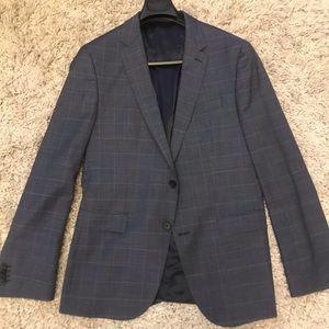 Hugo Boss Plaid Blue Sports Jacket